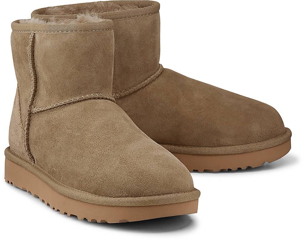 Boots Classic Mini Ii von UGG in khaki für Damen. Gr. 37,38 Preisvergleich