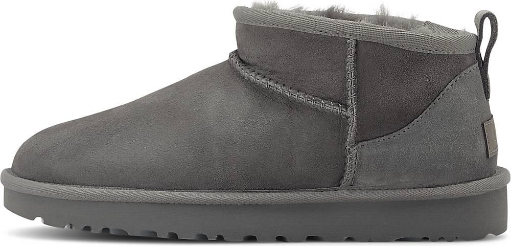 UGG  Boots Classic Ultra Mini in mittelgrau  Boots für Damen   Schuhe > Stiefeletten   Ugg