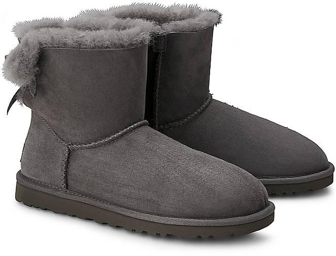 ugg boots mini bailey bow grau rjm. Black Bedroom Furniture Sets. Home Design Ideas