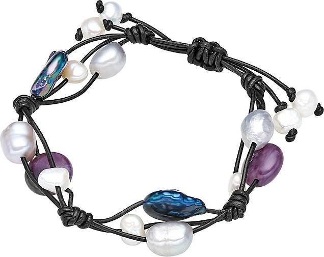 Valero Pearls Leder-Armband