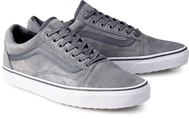 vans damen old skool sneakers grau