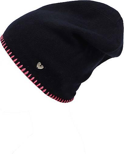Zwillingsherz Beanie Mütze mit Häkelrand