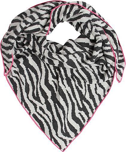 Zwillingsherz Dreieckstuch Zebra mit Kaschmir