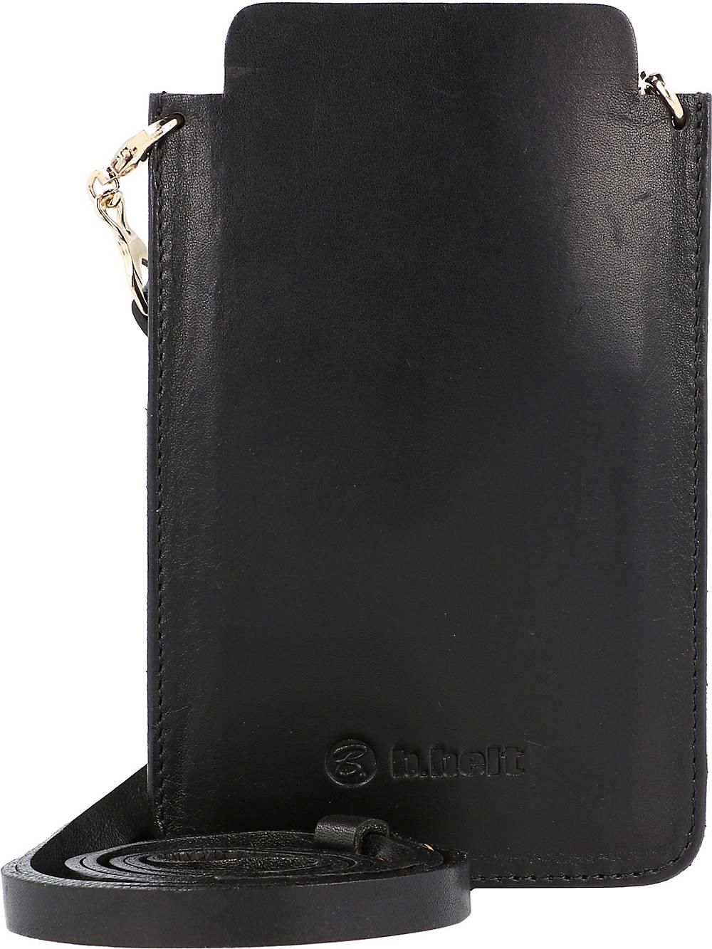b.belt, Handytasche Leder 10 Cm in schwarz, Handyhüllen & Zubehör für Damen