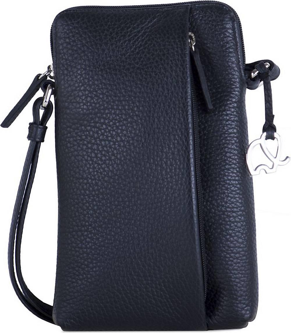 mywalit, Cremona Handytasche Leder 12 Cm in schwarz, Handyhüllen & Zubehör für Damen