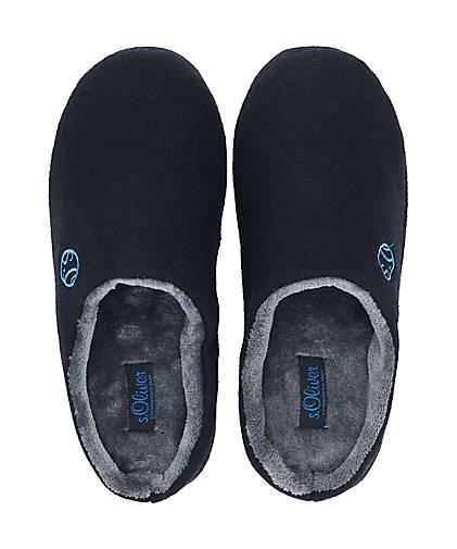 S.Oliver Hausschuhe Hausschuhe Hausschuhe in blau-dunkel kaufen - 47884803 GÖRTZ Gute Qualität beliebte Schuhe 87a2be