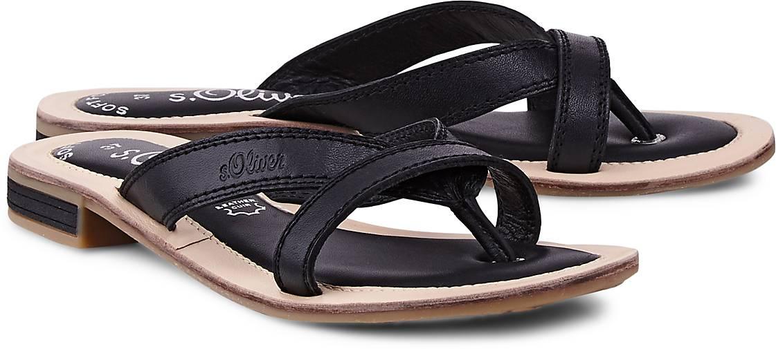 s.Oliver Riemchen-Sandale in schwarz kaufen - 47435201   GÖRTZ 5a12901d60